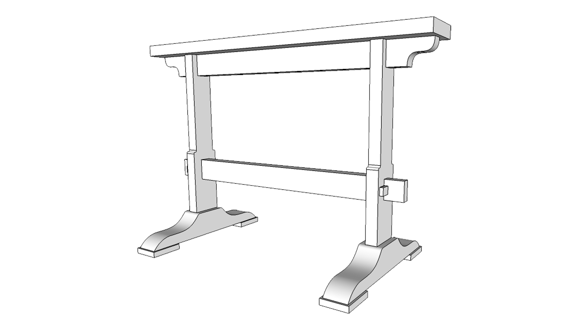 Sawhorse Pdf Plans And Template The Little Store