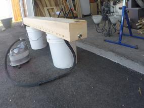 Cedar steam box